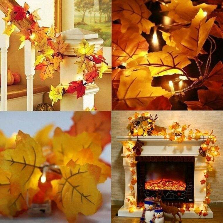 colores de otoño guirnalda