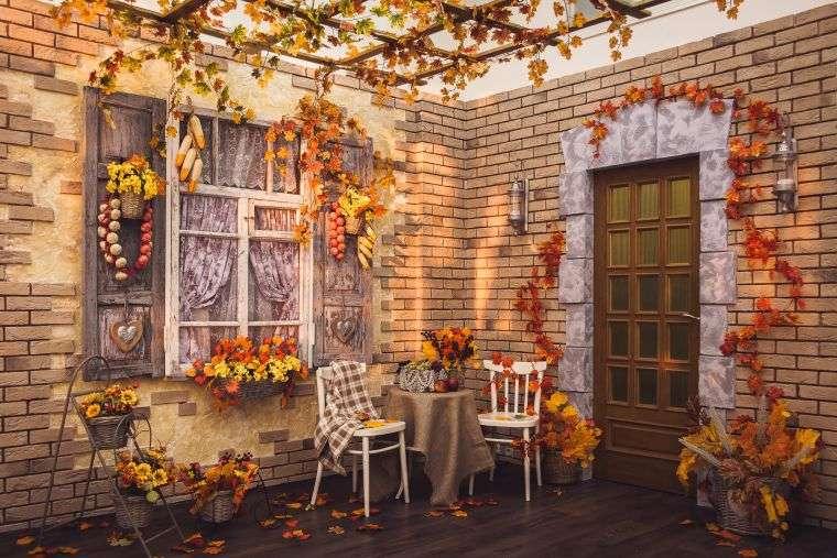 colores de otoño patio
