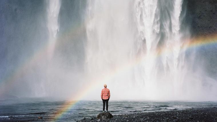 colores del arcoiris cascada