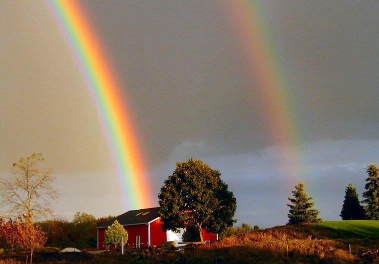 colores del arcoiris hermoso