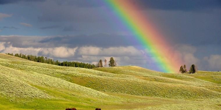 colores del arcoiris infinito