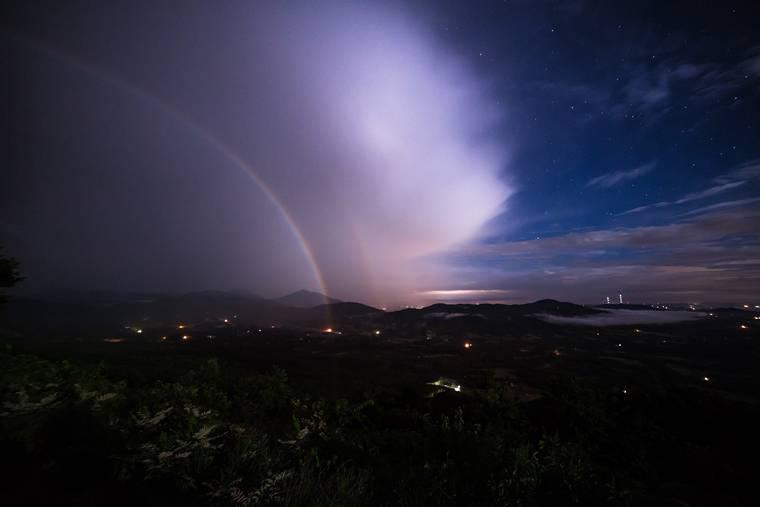 colores del arcoíris noche