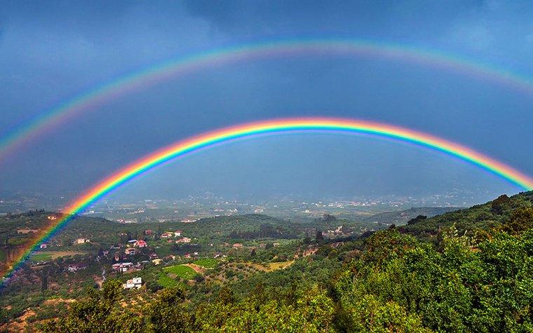 olores del arcoiris paisaje