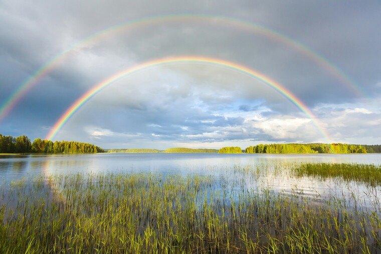 colores del arcoiris resplandor