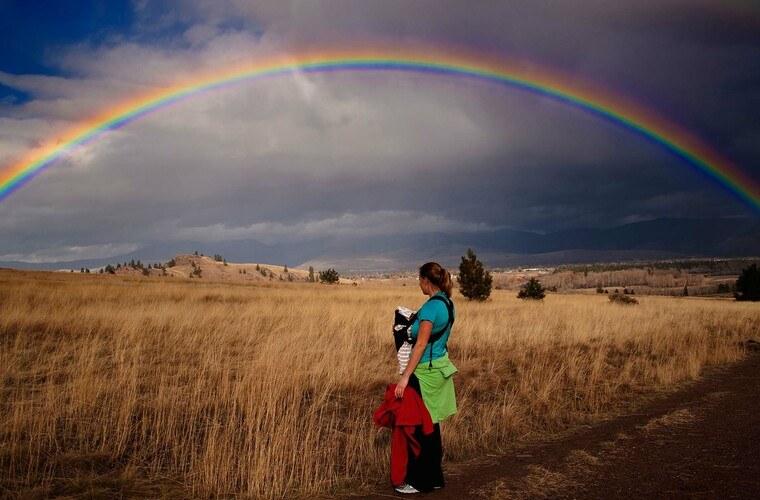 colores del arcoiris vista