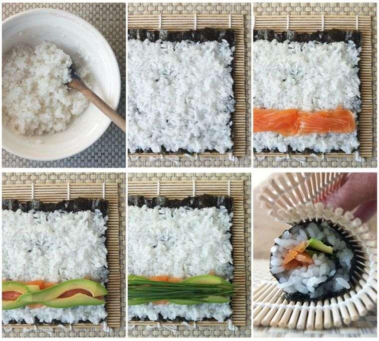 comida típica japonesa arroz