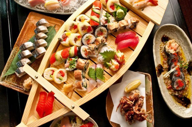 comida tipica japonesa variedad