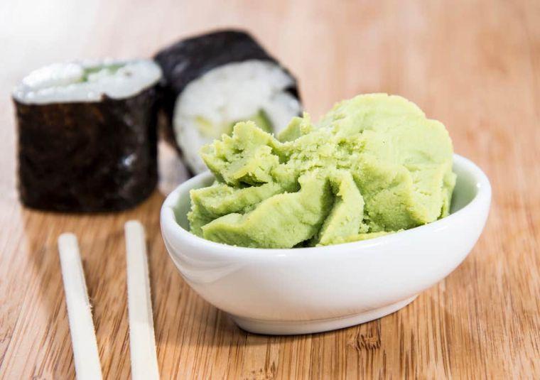 comida tipica japonesa wasabii