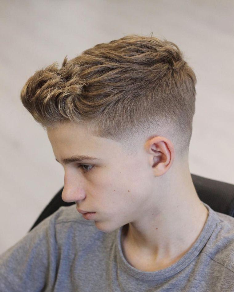 cortes de pelo para chicos de conexion conica desvanecida