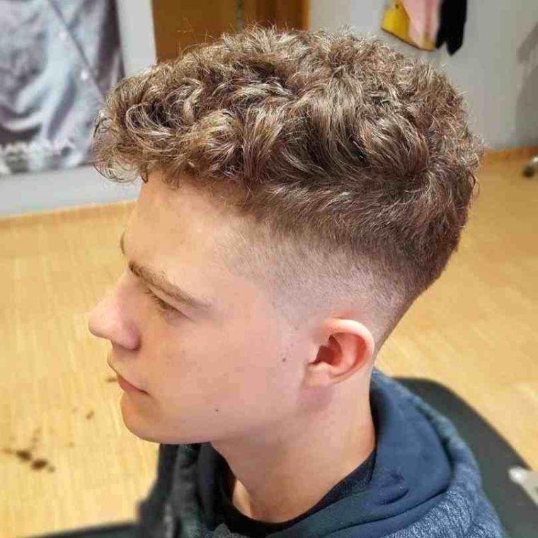 cortes de pelo para chicos franja texturizada
