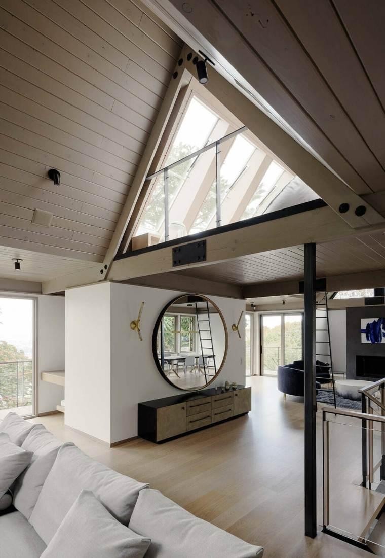 decoración de paredes-espejo-redondo-feldman-architecture