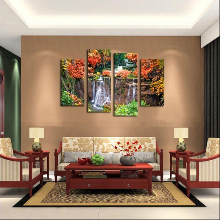 decoracion sala de estar cuadros