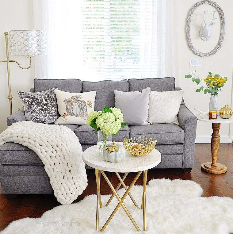 decoracion sala de estar gris