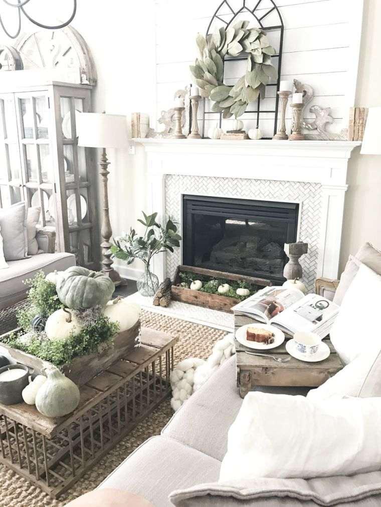 decoracion sala de estar otoño