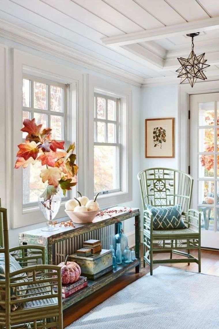 decoracion sala de estar ramas