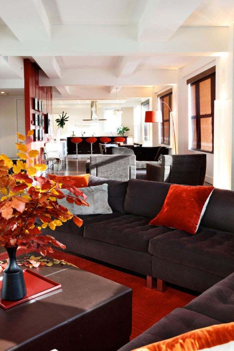 decoracion sala de estar rojo