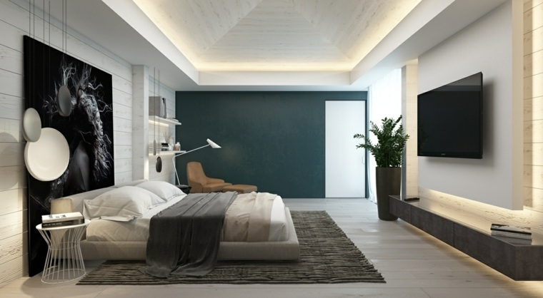 dormitorio-blanco-pared-acento-verde