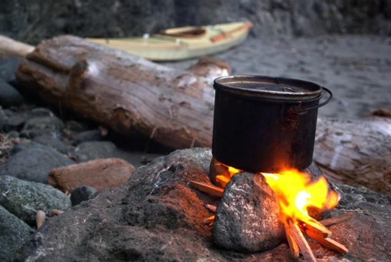 familia de camping