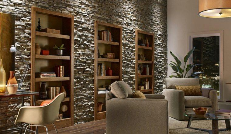 Ideas de pared de piedra interior