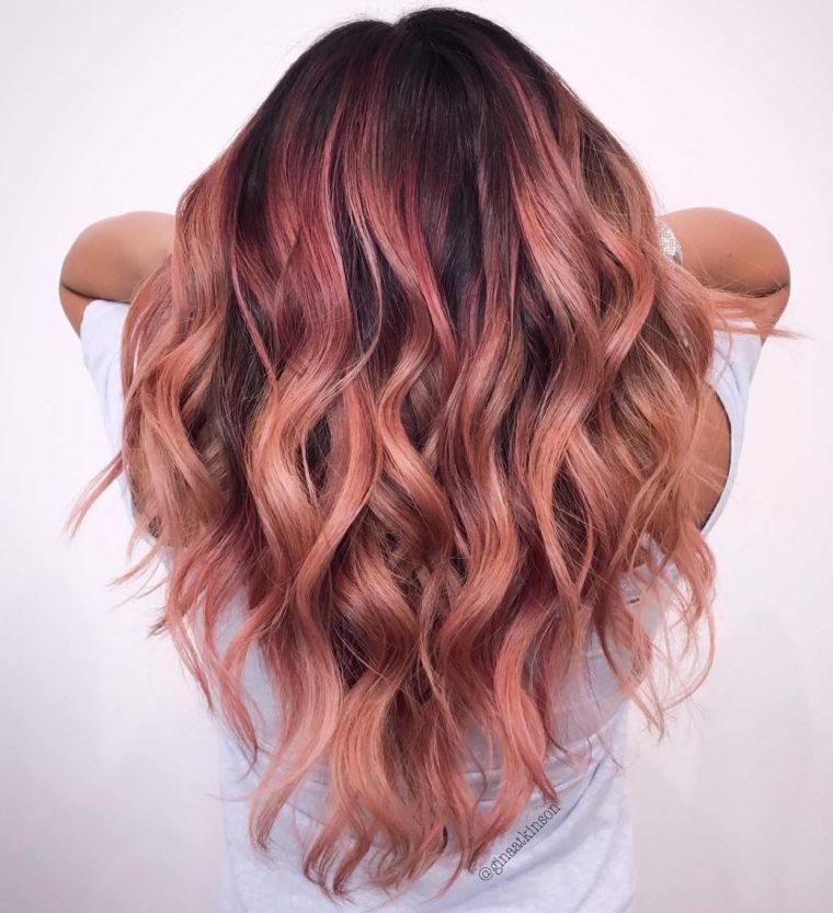 mechas rosa