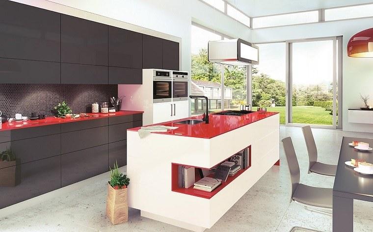 modelos-de-islas-para-cocinas-blano-rojo