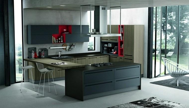 modelos-de-islas-para-cocinas-modernas-color-negro