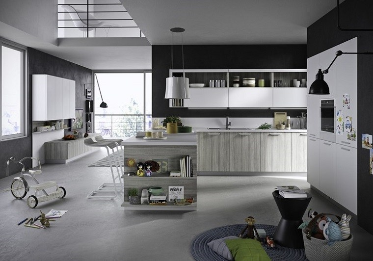 modelos-de-islas-para-cocinas-modernas-madera