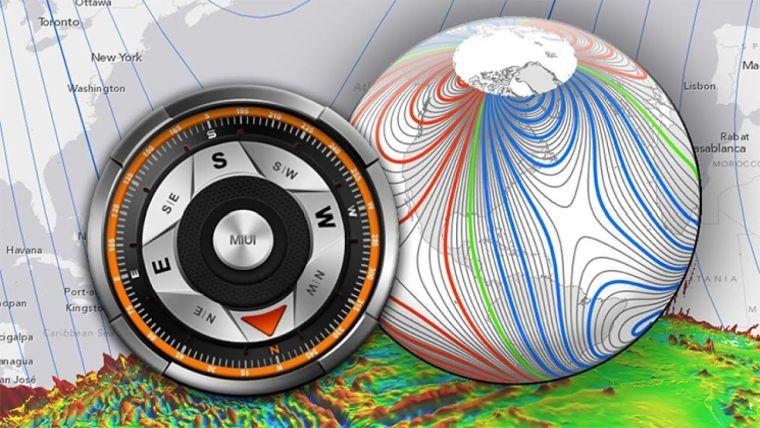 norte magnetico campo