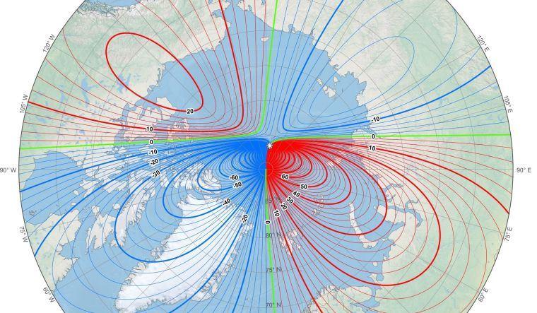 norte magnetico punto