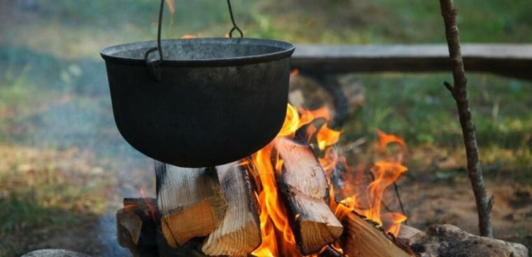 Cocinar a fuego abierto