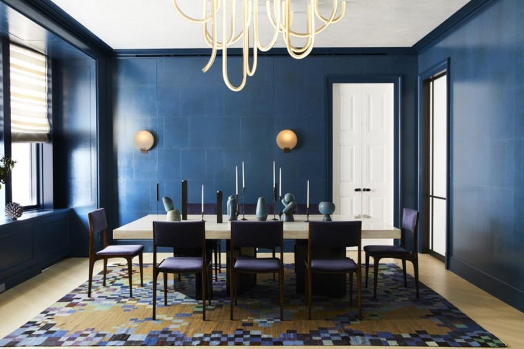 pared-azul-comedor-ideas