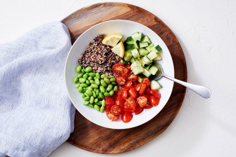 plato sano para almorzar