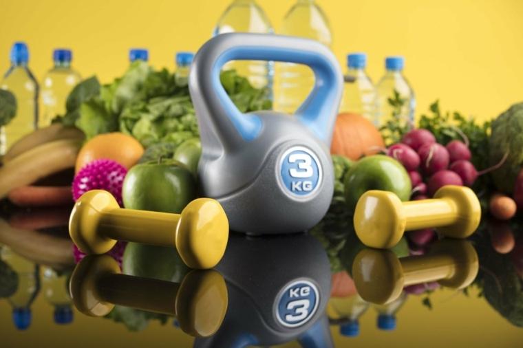 Nutrición modelo de fitness