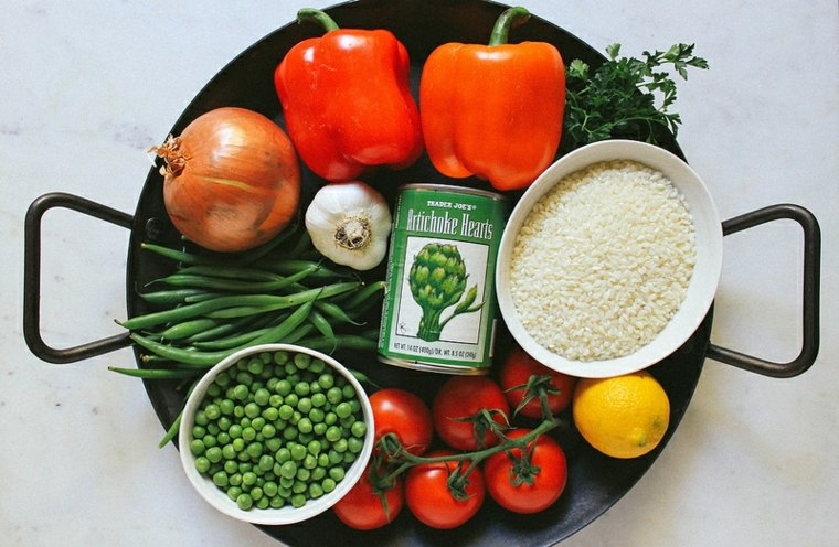 Vegetales paella