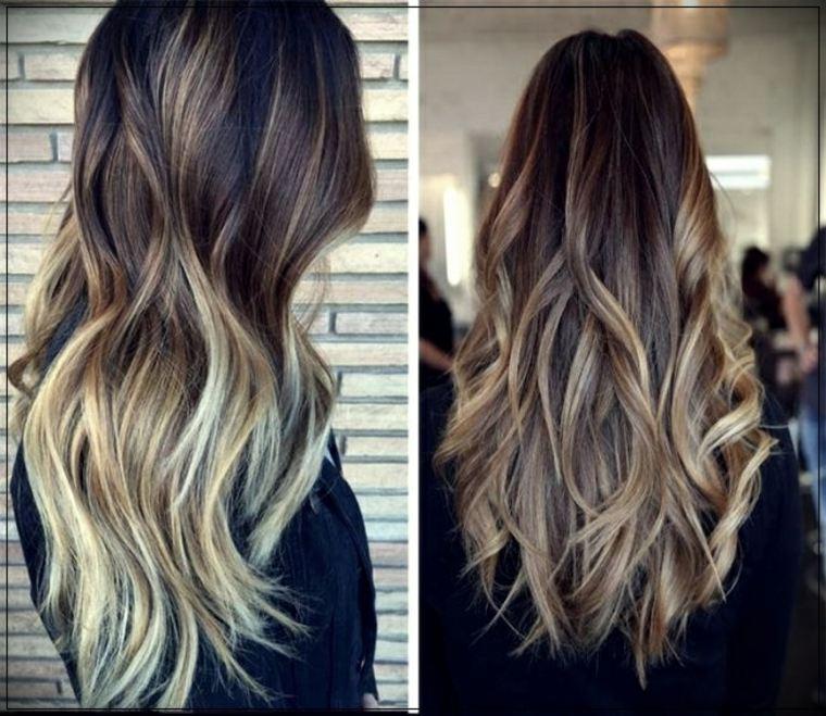 Mechas californianas en cabello castaño
