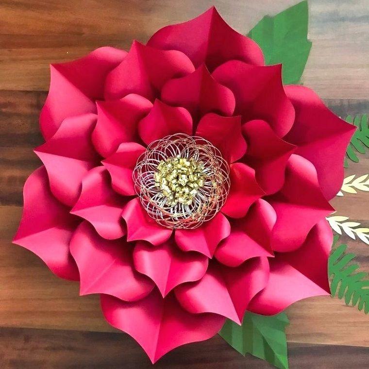 bello-tono-rosa-papel-flores