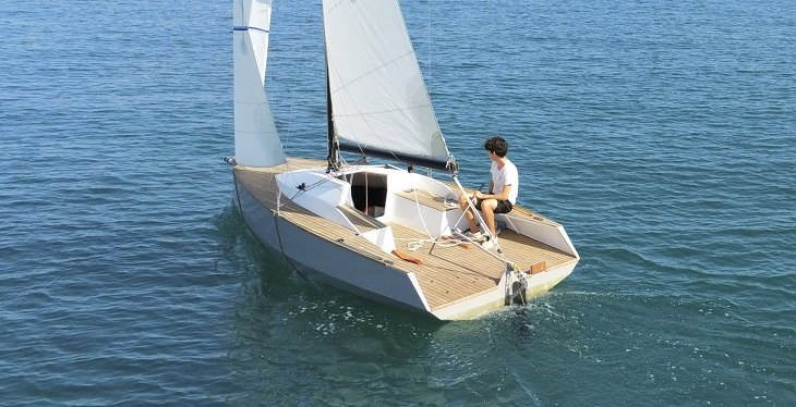 bote moderno velas motor extra