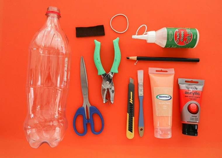 manualidades con botellas-materiales-ideas