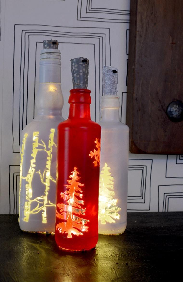 botellas-luces-navidad-decoracion