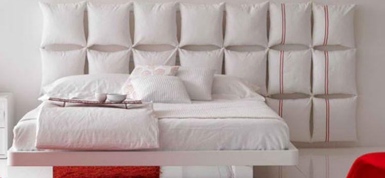 cabeceros de cama originales almohadas