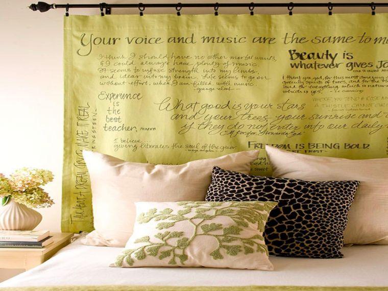 cabeceros de cama originales cortina