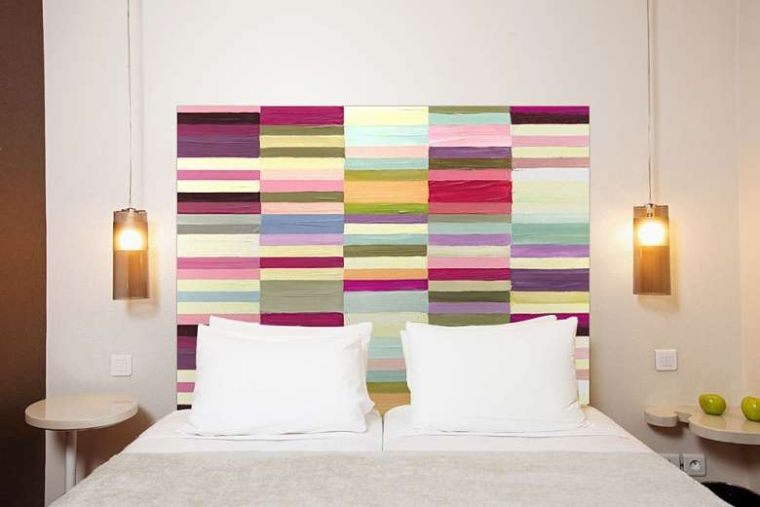 cabeceros de cama originales multicolor