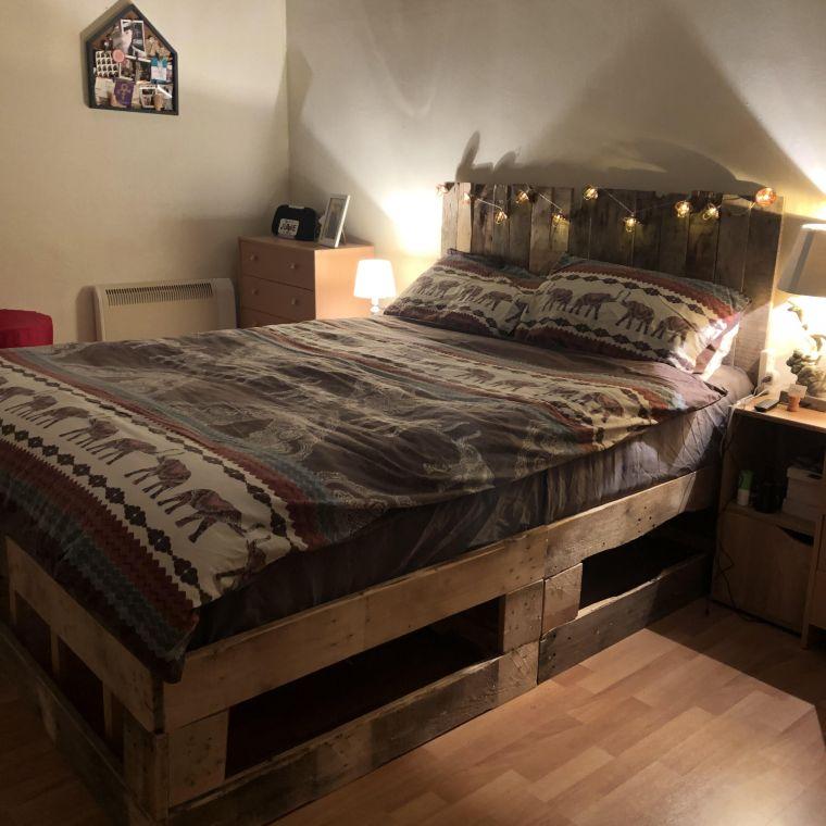 cabeceros de cama originales palet