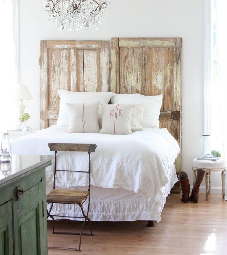 cabeceros de cama originales puerta