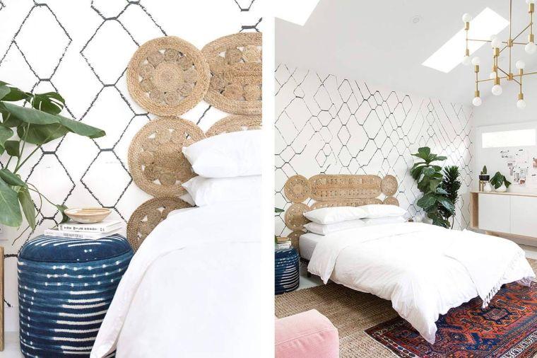 cabeceros de cama originales tejido