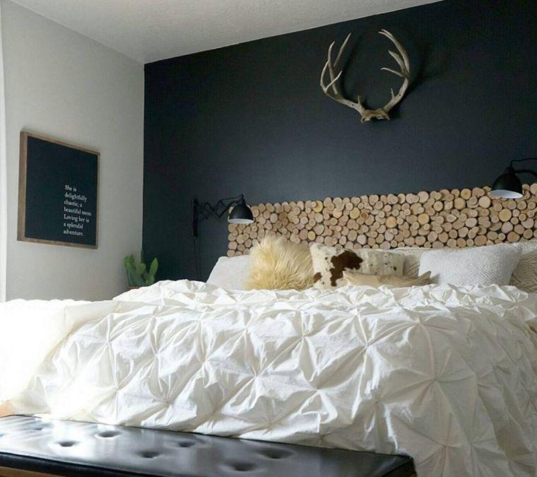 cabeceros de cama originales troncos