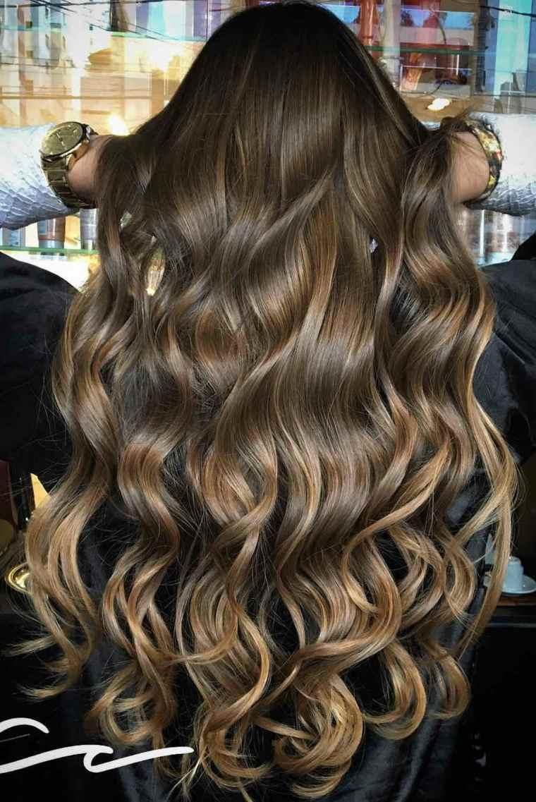 mechas cabello largo