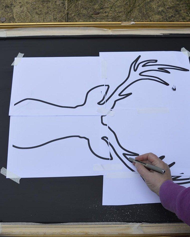 ciervo-cabeza-imprimible-ideas-decorar-cuadro