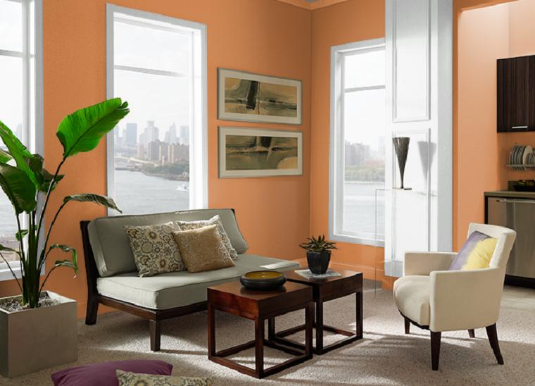 colores-de-moda-para-pintar-casas-naranja