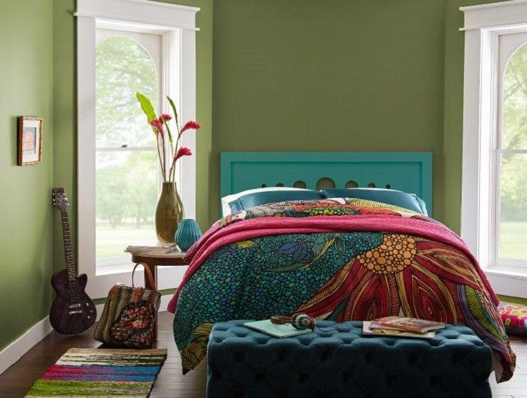 colores-de-moda-para-pintar-casas-verde-dormitorio